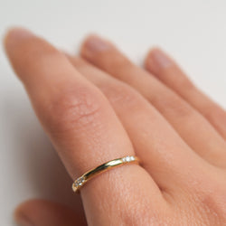 Diamond Spark Stacking Ring