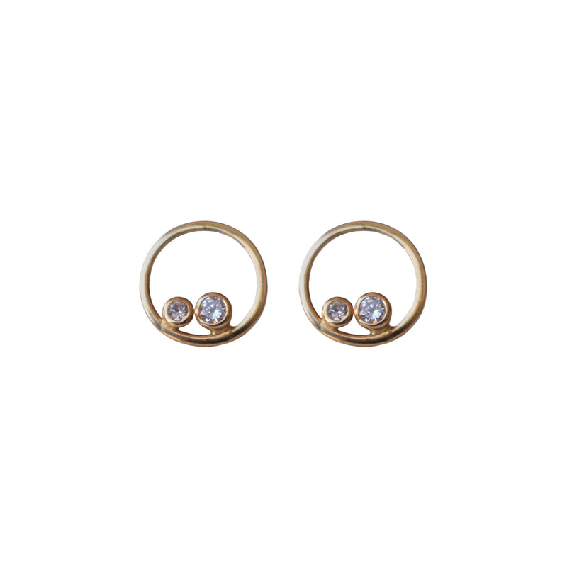 Eve Diamond Circle Earrings