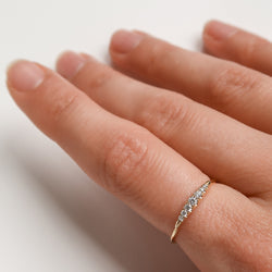 Graduating Diamond Stacking Ring
