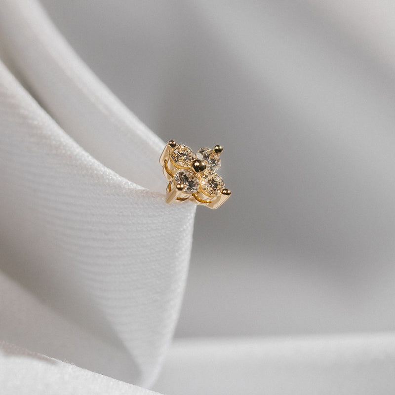 4 Stone Diamond Stud