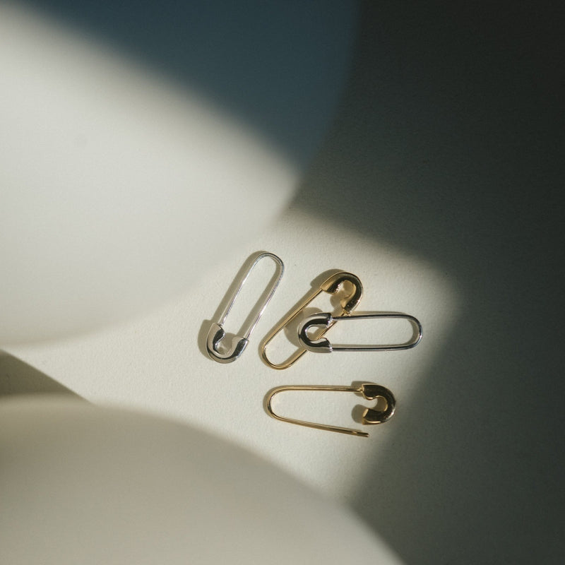 Single Morgan Safety Pin Earring
