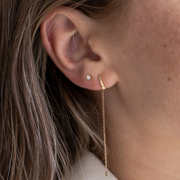 Single Leia Diamond Stud
