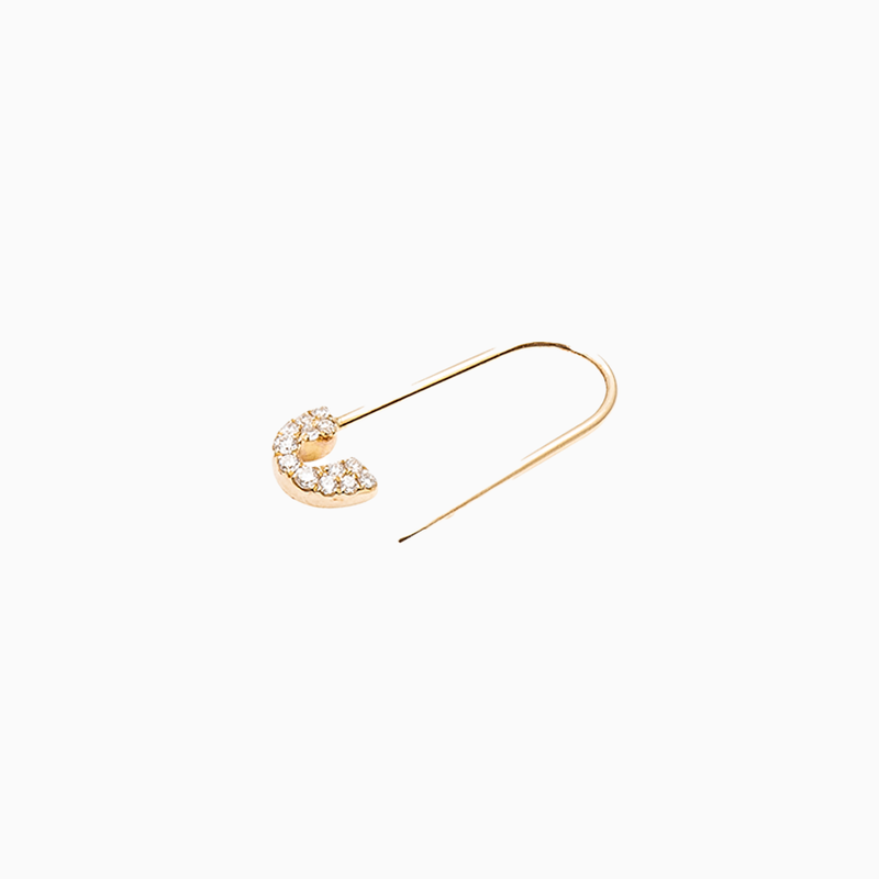 Sparkle Safety Pin Earring