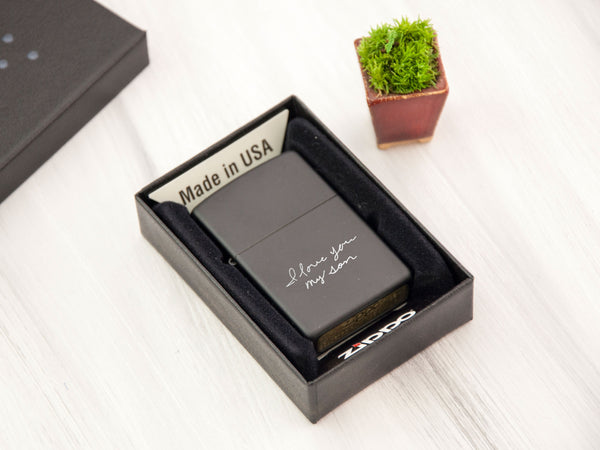 Handwritten Gift Custom ZIPPO Lighter Personalized Gift for Dad Anniversary Gift for Husband Engraved Lighter Mens Gift Wedding Party Gifts