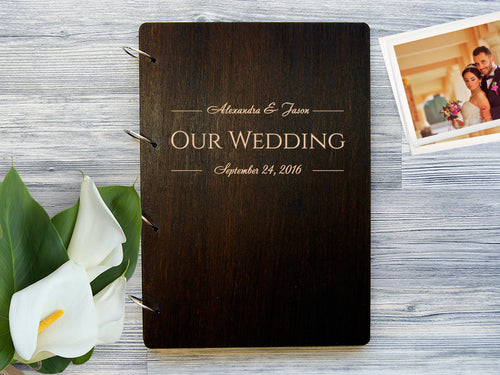 Wedding Photo Album Personalized Photo Album Custom Wedding Photo Album Wooden Photobook Wedding Gift Engraved Photo Album Gift for Couple