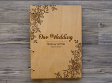 Load image into Gallery viewer, Wedding Photo Album Personalized Photo Album Custom Wedding Gift Mr and Mrs Wooden Photobook Wedding Gift Ideas Gift for Couple Photobook