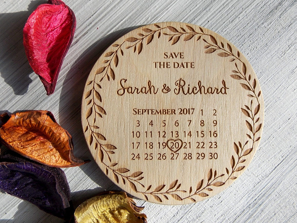 Custom Wedding Save the Date Magnets, Wood Save the Date Calendar, Rustic Wedding Save the Date, Wedding Invitation Calendar, Wooden Magnet