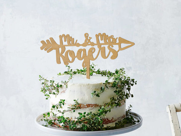 Wedding Cake Topper, Name Cake Topper, Custom Cake topper, Rustic Cake Topper, Engagement Cake Topper, Mr Mrs Cake Topper, Boho Cake Topper