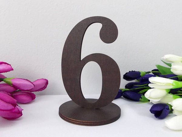 Wooden Table Numbers Wedding Table Numbers Gold Table Numbers  DIY Wedding Freestanding Table Numbers Wedding Decor Rustic Numbers for Table