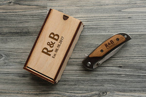 Fathers Day Gift - Personalized Pocket Knife Engraved Gift Box Groomsmen Gift for Dad Father's Day Gift from Daughter Boyfriend Gift for Him