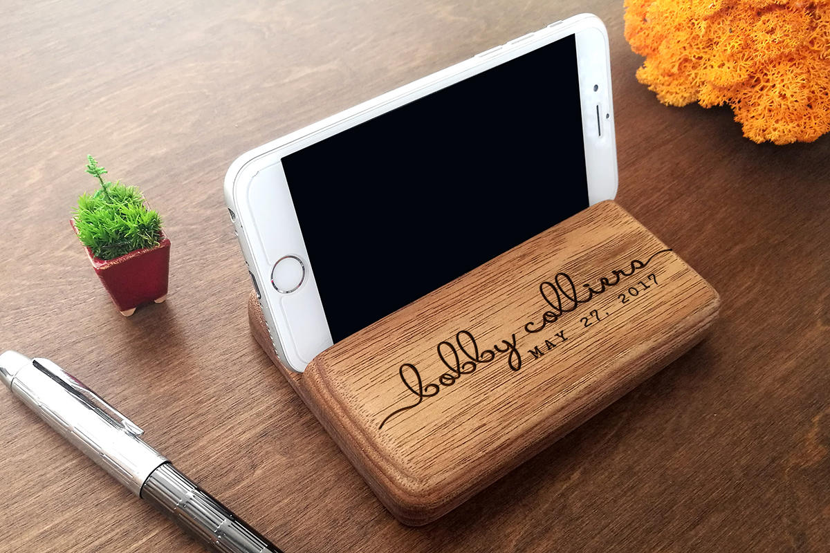 Anniversary Gifts for Men, Personalized Gift for Him, Birthday Gift for Dad, Custom Gift for Him, Birthday Gift for Husband, IPhone Stand