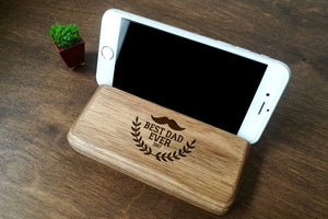 Fathers Day Gifts, Fathers Day, Docking Station, Cell Phone Holder, Mens Gift, Personalized Wood Phone Stand, Gift Ideas for Men, Dad Gifts