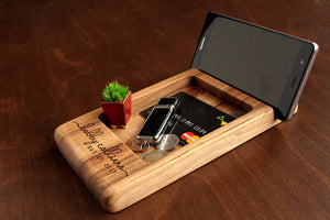 Fathers Day Dift from Wife, Docking Station, Charging Station, Anniversary Gifts for Men, Boyfriend Birthday Gifts For Him, Desk Organizer