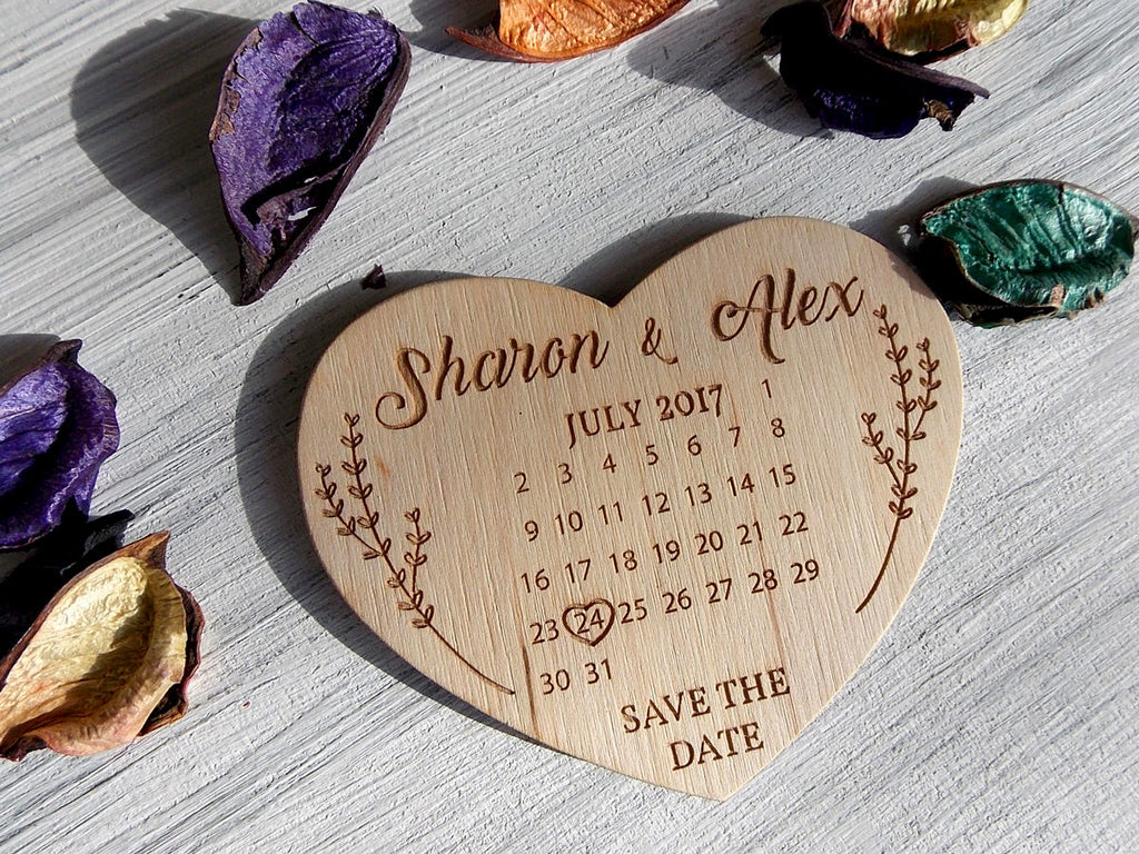 Personalized Wedding Hearts, Wedding Save the Date Magnet, Save the Date Calendar Magnet, Save the Date Heart, Wedding Magnets Calendar