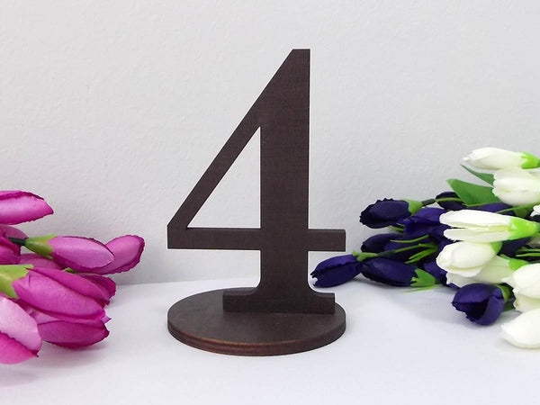 Gold Table Numbers Wooden Table Numbers Rustic Wedding Table Decor Freestanding Table Numbers Silver Table Numbers Diy Table Numbers Base