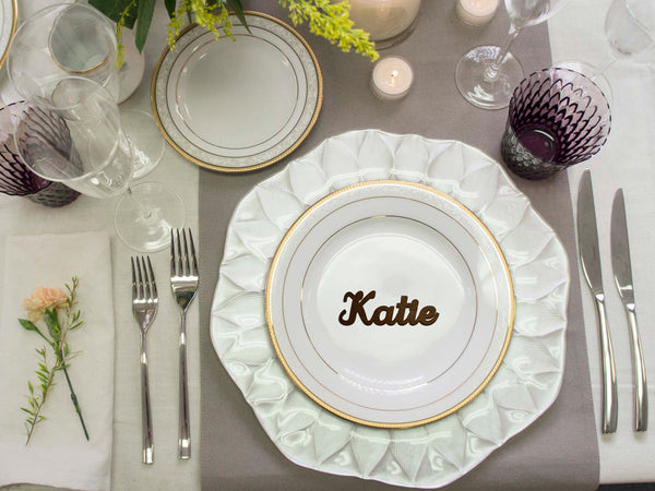 Wedding name cards Personalized name Wedding seating Wedding place cards Table setting Laser cut place cards Guest names Wedding table names