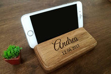 Load image into Gallery viewer, Anniversary Gifts for Men, Personalized Gift for Him, Birthday Gift for Dad, Custom Gift for Him, Birthday Gift for Husband, IPhone Stand