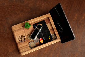Charging Station, Anniversary Gift for Boyfriend, Christmas Gifts for Him, Dad Birthday Gifts, Christmas Gifts for Dad, Wood Docking Station