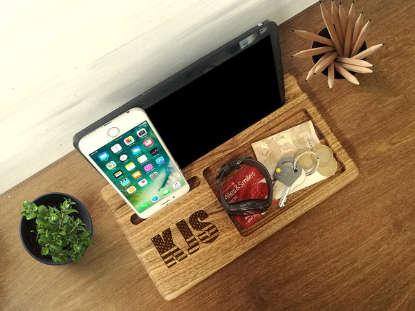 Anniversary Gifts for Men, Wood Docking Station, Boyfriend Gift, Birthday Gifts Men, Husband Gift, Mens Gift,Fathers Day Gift,Charging Stand