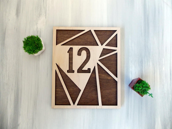 Geometric Table Numbers Wooden Wedding Decor Terrarium Wedding Decor Laser Cut Table Numbers Modern Wedding Decor Wooden Table Numbers