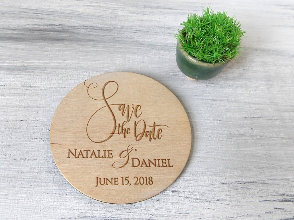 Personalized Save the Date Magnet Custom Wedding Save the Dates Wood Save the Date Magnets Rustic Wedding Save the Date Boho Wedding Magnets