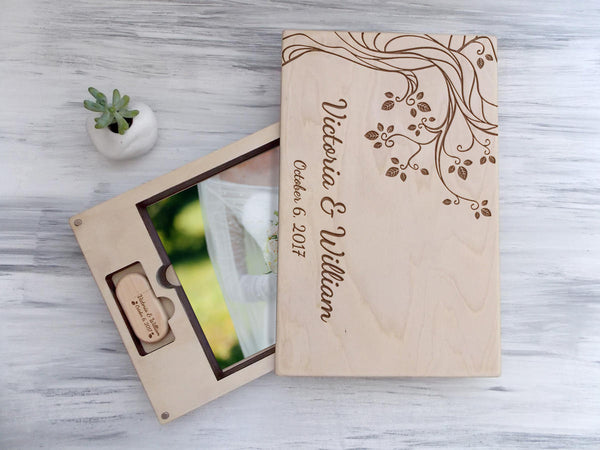 Wedding Photo Box Valentines Gift for Couple Anniversary Gift Wooden Photo Box Wedding Photography Wedding Keepsake Box Photo Storage