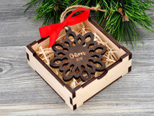Load image into Gallery viewer, Personalized Christmas Ornaments Personalized Wooden Snowflake Christmas Tree Ornaments Custom Snowflake Ornament Christmas Gifts for Friend