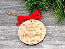 Load image into Gallery viewer, Our First Christmas Ornament Married Christmas Ornament Personalized Christmas Ornaments Gifts Couple Wedding Gift Mr and Mrs Newlywed Gift