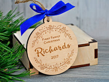 Load image into Gallery viewer, Our First Family Christmas Ornament Christmas gift Personalized Ornaments Christmas Tree Ornaments First Christmas Ornament Married Mr Mrs
