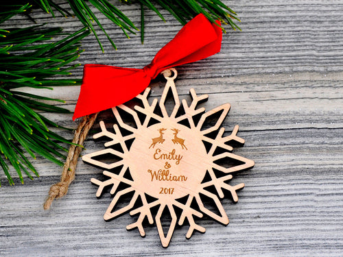 Couple Gifts for Christmas Personalized Snowflake Christmas Ornament Gift Box Free Personalized Christmas Gifts Our First Christmas Mr Mrs