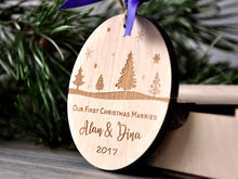 Load image into Gallery viewer, First Christmas Ornament Married Personalized Christmas Ornament First Christmas Married Tree Ornament Gift for Couples Christmas Gifts