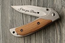 Load image into Gallery viewer, Boyfriend Gift Personalized Knife Gifts for Him Folding Knife Groomsmen Gift Box Birthday Gift for Him Mens Gift Husband Gift Pocket Knife