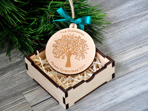 Personalized Christmas Ornaments Wood Christmas Decorations Wood Christmas Ornament Personalized Family Ornament Engagement Gifts for Couple