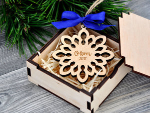 Personalized Christmas Ornaments Personalized Wooden Snowflake Christmas Tree Ornaments Custom Snowflake Ornament Christmas Gifts for Friend