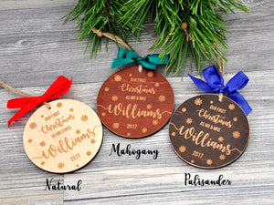 Our First Christmas Ornament Married Christmas Ornament Personalized Christmas Ornaments Gifts Couple Wedding Gift Mr and Mrs Newlywed Gift