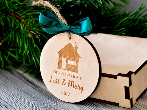 Our First Home Christmas Ornaments Personalized Christmas Gifts Housewarming Holiday Our First House Ornament First Christmas New House Gift