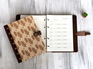 Happy Planner Fitness Journal Custom Notebook Daily & Weekly Planner Personalized Journal Measuring Tracker Undated Planner Fitness Planner