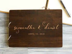 Custom Wedding Guest Book Rustic Guestbook Sign Wedding Guestbook Personalized Guest Book Wedding Sign In Book Bridal Shower Book Hearts