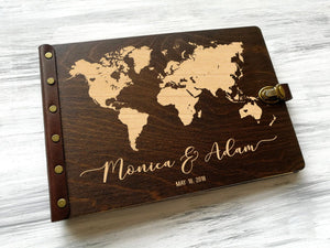 Wedding Guest Book World Map Travel Guest Book Wedding Map Guest Book Custom Guest Book Adventure Wedding Guestbook Ideas Travel Map World