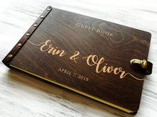 Load image into Gallery viewer, Rustic Wedding Guest Book Ideas Wood Wedding Guestbook Custom Engraved Guest Book Personalized Guest Book Alternative Wedding Reception Book