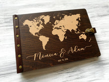 Load image into Gallery viewer, Wedding Guest Book World Map Travel Guest Book Wedding Map Guest Book Custom Guest Book Adventure Wedding Guestbook Ideas Travel Map World