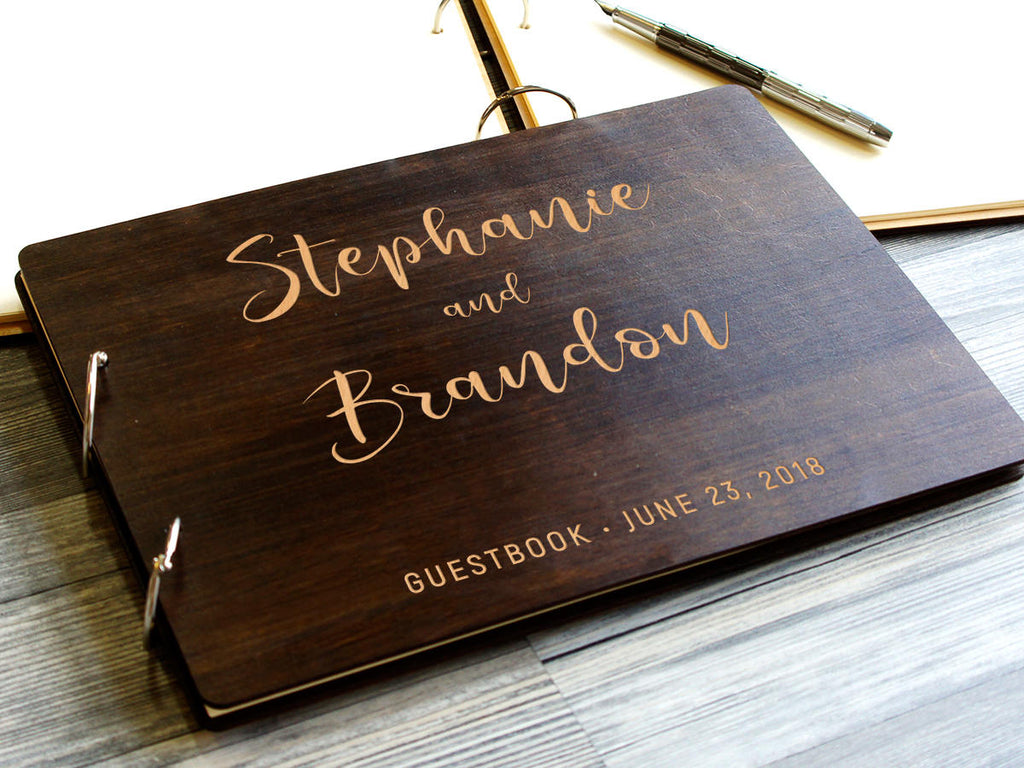 Unique Wedding GuestBook Wood Guest Book Rustic Wedding Guest book Engraved Guest Book Custom Guest Book Personalized GuestBook Wedding Gift