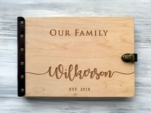 Family Photo Album Personalized Photo Albums Custom Family Gift for Couple Mom Photo Gift Anniversary Gift Engraved Memory Book Scrapbook