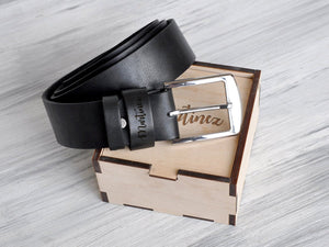 Mens Leather Belt Black Leather Belt Personalized Leather Belt for Men Leather Accessories for Man Personalized Gift for Men Birthday Gift