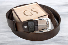 Load image into Gallery viewer, Anniversary Gifts for Men Personalized Leather Belt Boyfriend Gift Fathers Day Gift Birthday Gifts Men Gifts Husband Custom Gift for Dad