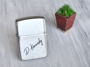 Personalized Lighter Zippo Engraved Lighter Custom Handwriting Signature Personalized Gifts for Dad Fathers Day Gift from Son Husband Gift