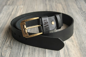 Father of the Bride Gift Wedding Day Gift for Groom Personalized Belt Leather Bride's Gift to Dad Groomsmen Gifts Leather Belt Monogram Belt
