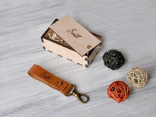 Load image into Gallery viewer, Leather Keychain Personalized, Game of Thrones Gift, Fathers Day Gift, Gift for Men, Personalized Leather Key fob Engraved, Custom Key Ring
