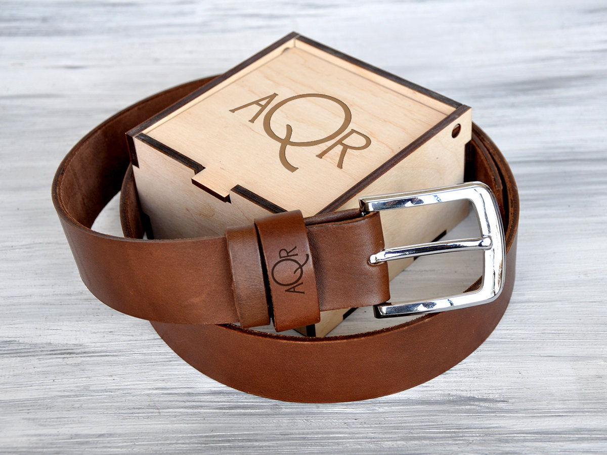 Christmas Gifts for Him Dad Birthday Gifts Husband Christmas Gift Dad Gifts Personalized Belt Mens Leather Belt Brown Leather Belt Mens Belt