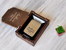 Load image into Gallery viewer, Groomsmen Gift Ideas Personalized Gift for Men Groomsman Lighter Zippo Custom Engraved Gifts for Him Wedding Gift for Groom from Bride Gift
